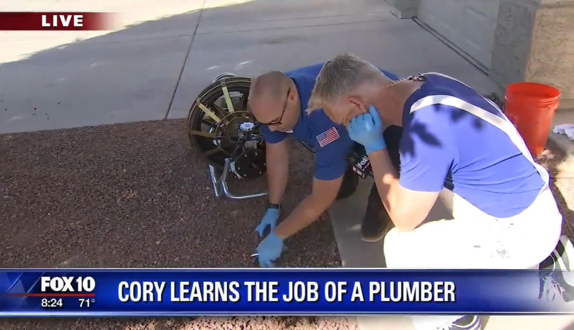 Cory Learns The Job of A Plumber